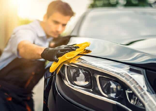 Wash and wipe your car to protect car paint